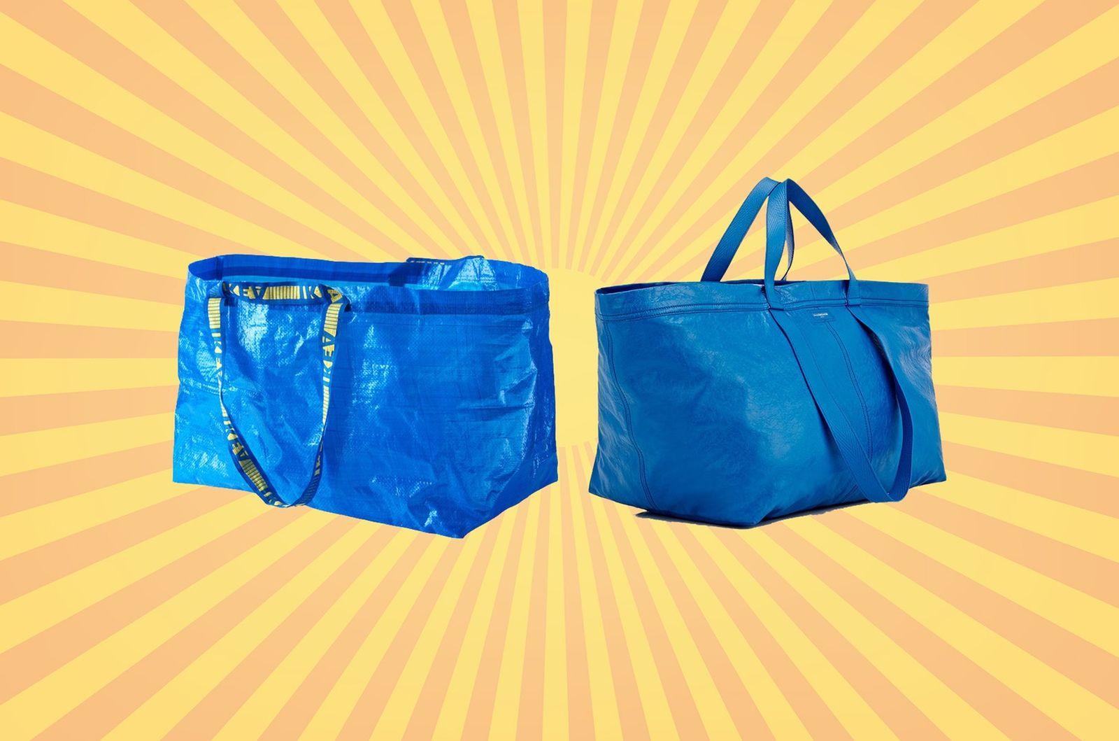 Настоящая «Фракта» шуршит: Икеа ответила люксовому бренду Balenciaga на копию своей сумки