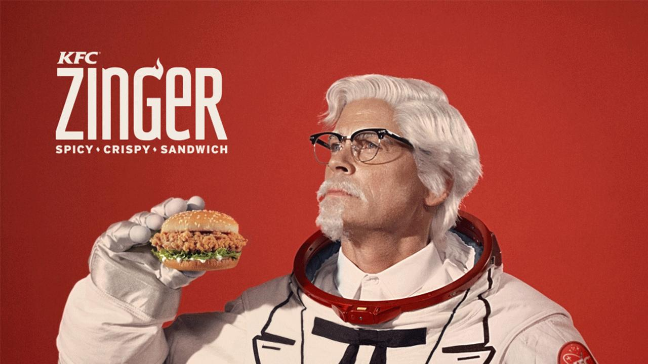 KFC представила нового полковника Сандерса и собирается запустить куриный бургер в космос