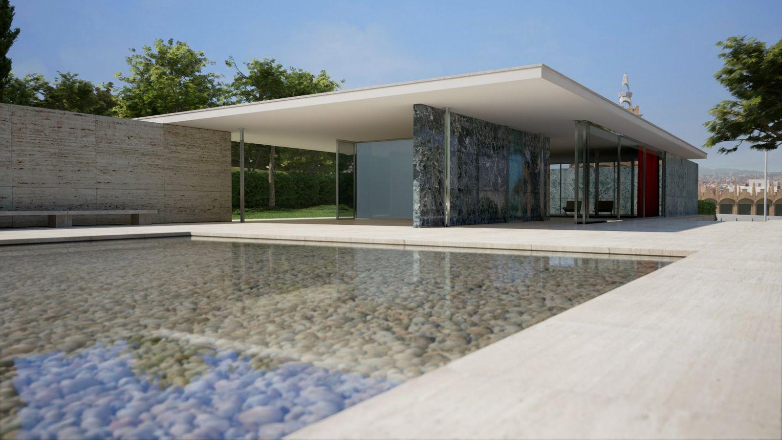 Виртуальная прогулка по Pavello Alemany – шедевру современной архитектуры в Барселоне