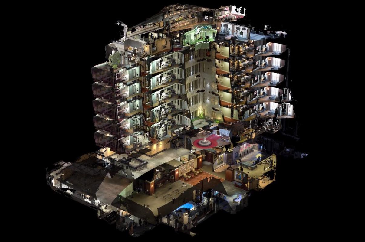 Психоделическое видео с 3D-моделью отеля | Студия Ракета