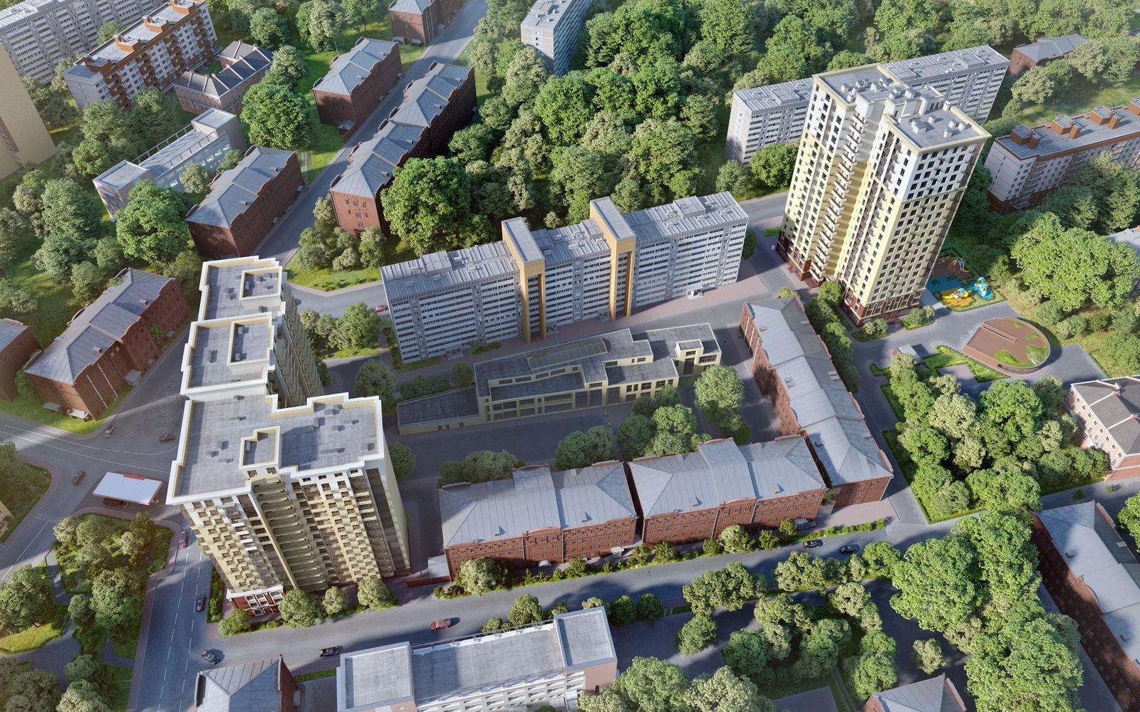 Визуализации жилого комплекса на севере Москвы   Студия Ракета
