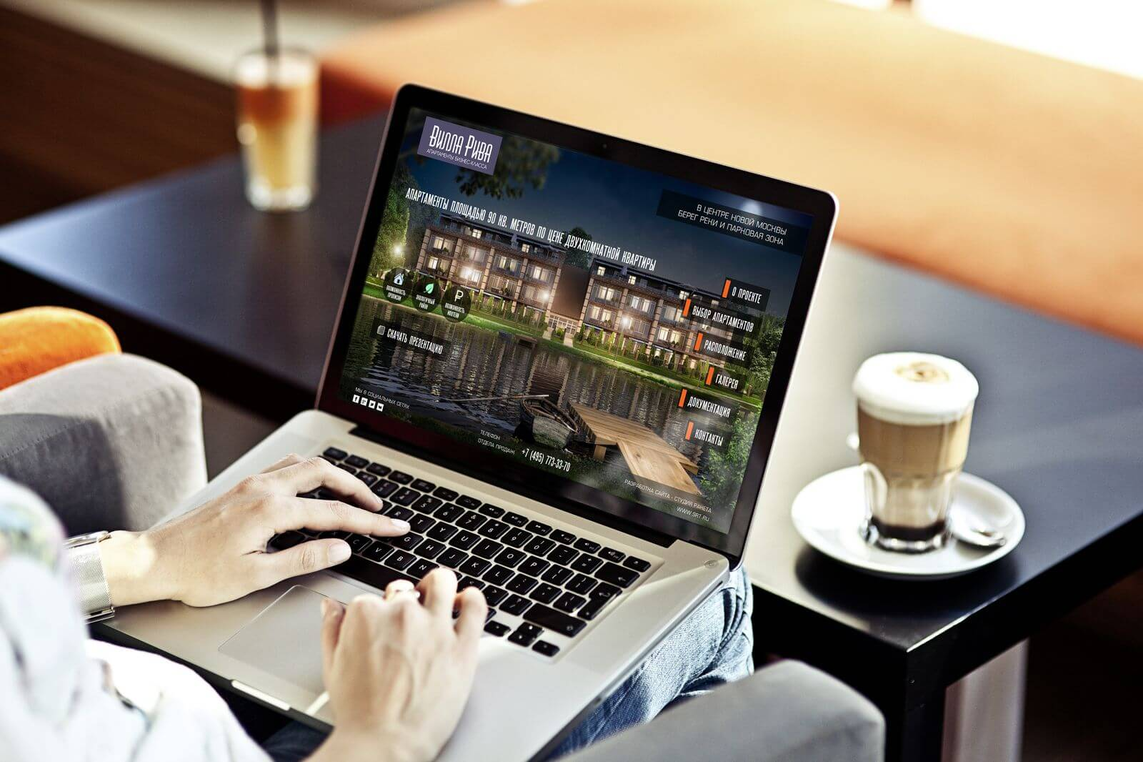 Запуск сайта комплекса апартаментов Вилла Рива | Студия Ракета